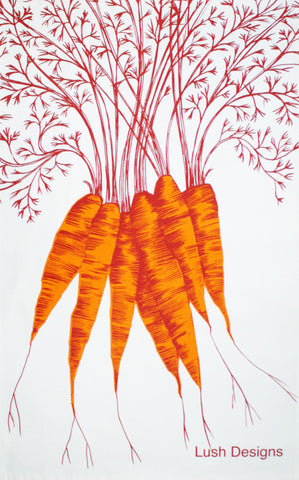 Carrots tea towel