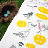 Tweet tea towel by Charlotte Farmer
