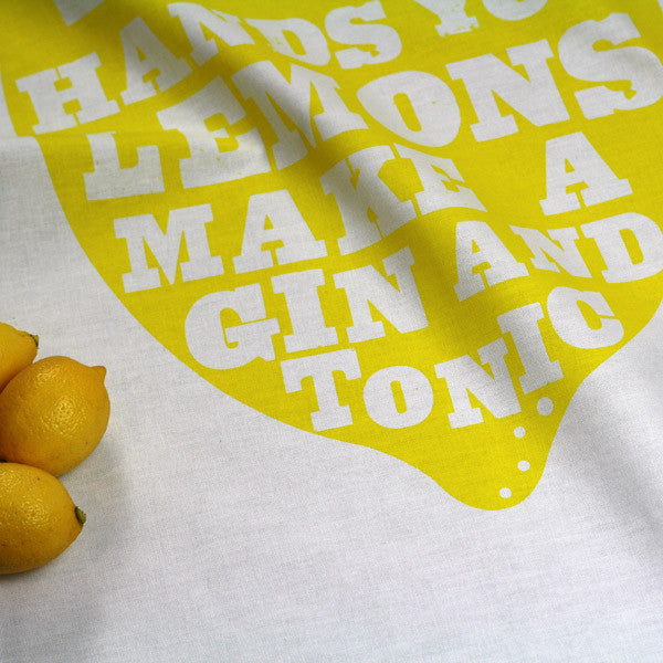 Lemons tea towel by Dear Colleen