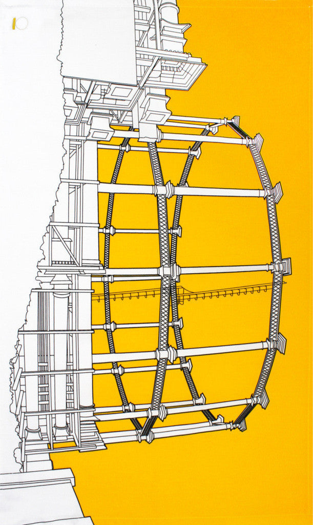 Gasometer tea towel