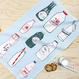 Fresh Milk tea towel by Hannah Whittall