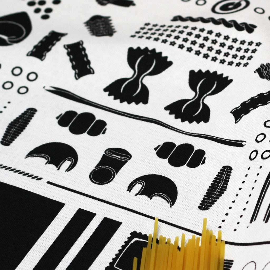 Geometry of Pasta tea towel