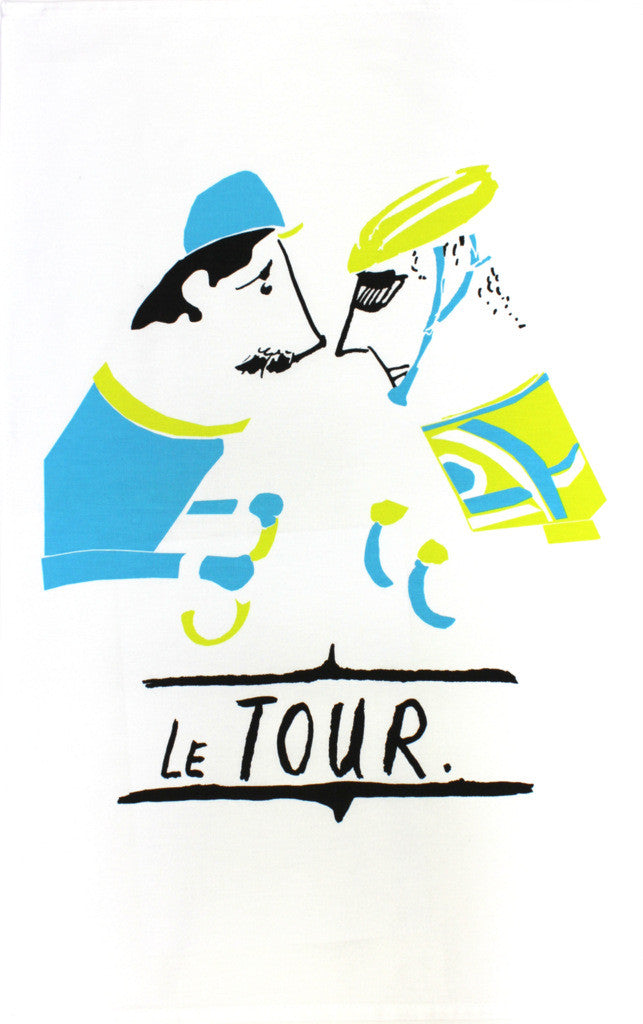 Le Tour tea towel