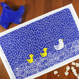 Duck Pond tea towel