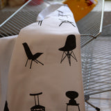 Mid Century Chairs tea towel