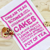Cream Teas tea towel