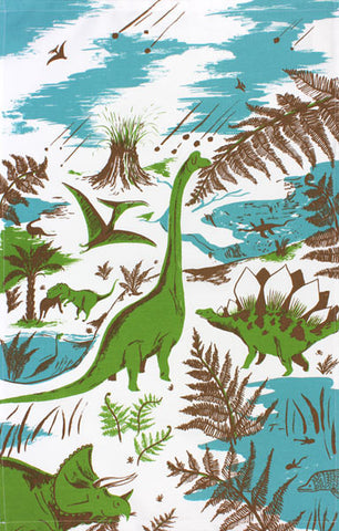 Drynosaurs tea towel