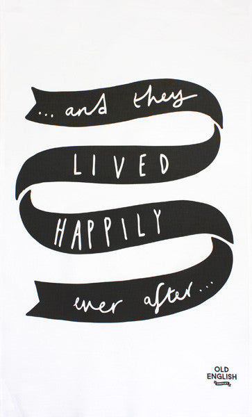 Happily Ever After tea towel by Old English Co
