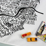 London Map tea towel by Old English Co