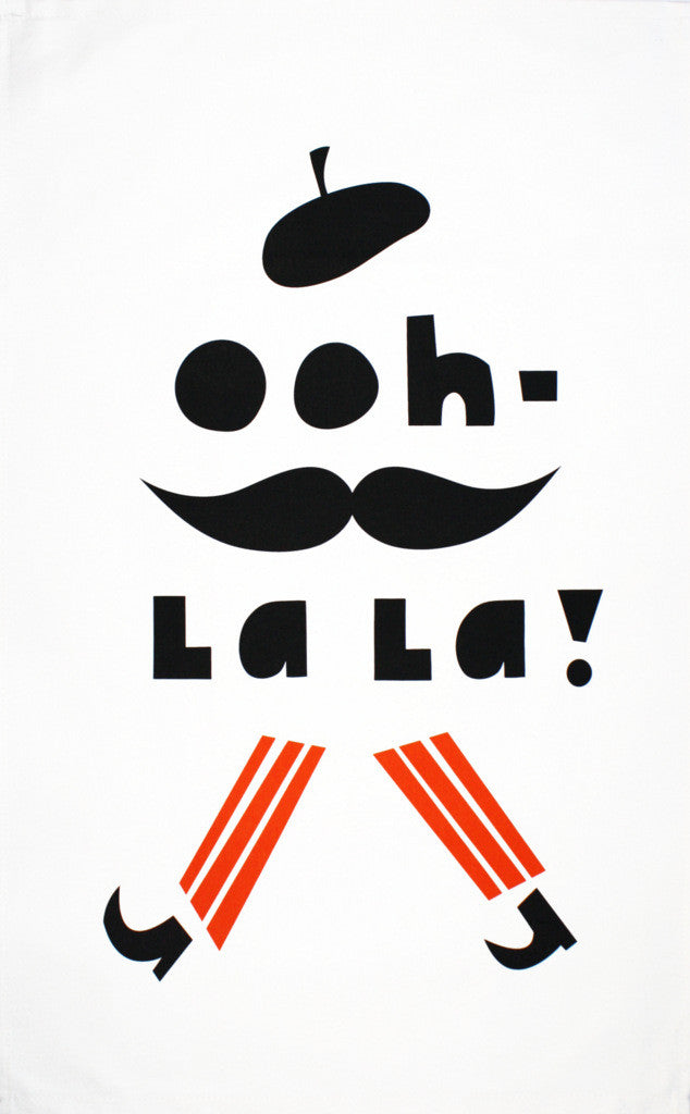 Ooh-La La! tea towel