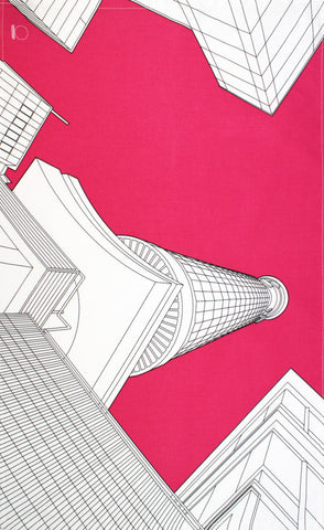 Post Office Tower tea towel