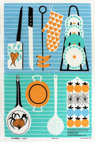 Pots and Pans tea towel