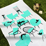 Cat Naps tea towel