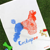 Cockapoo tea towel