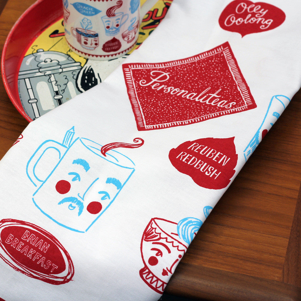 Personaliteas tea towel