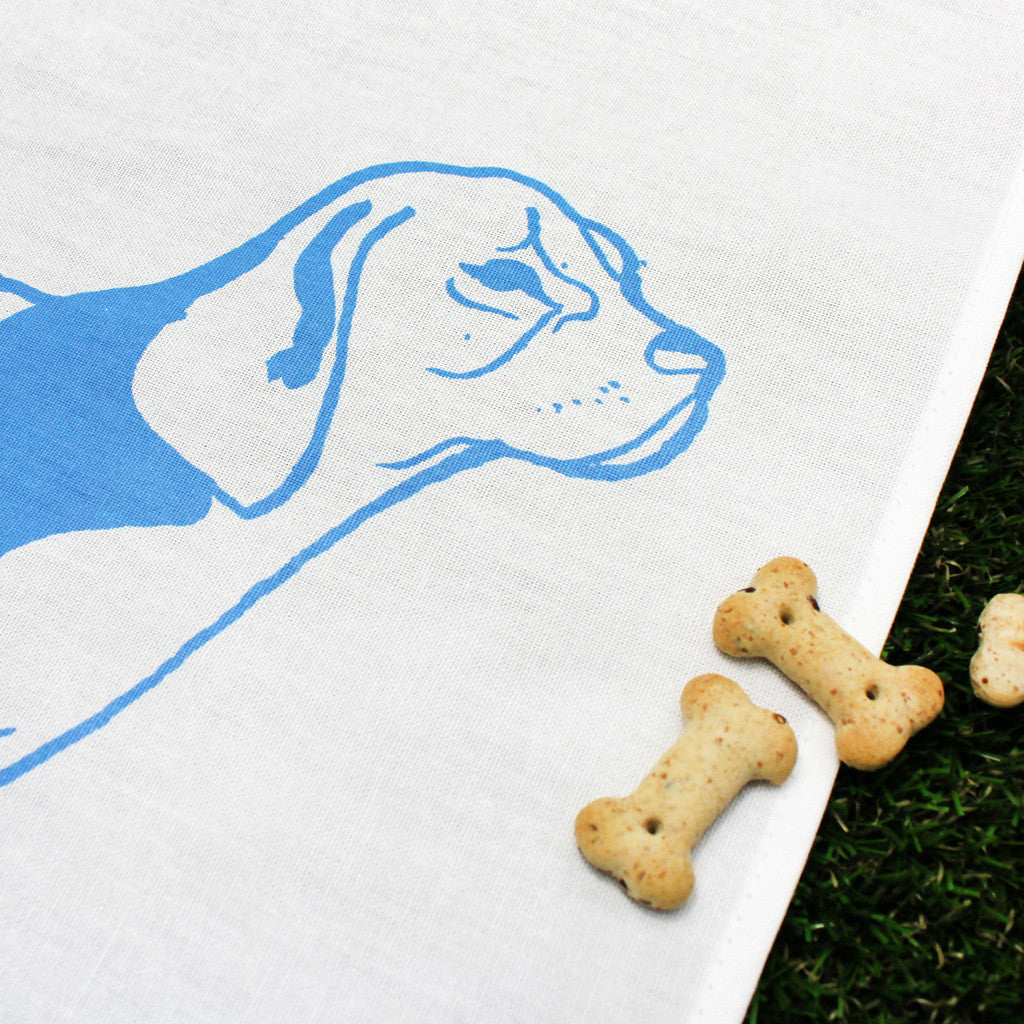 Poogle tea towel