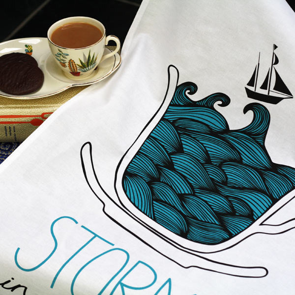 Storm in a Teacup tea towel