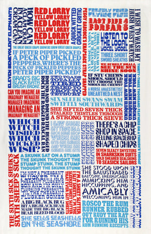Tongue Twister tea towel