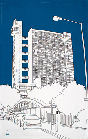 Trellick Tower tea towel
