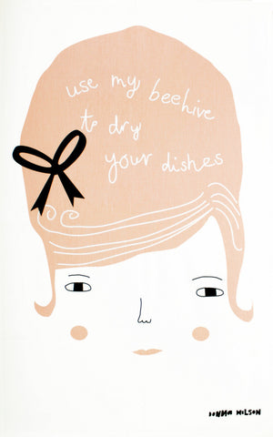 Use My Beehive tea towel