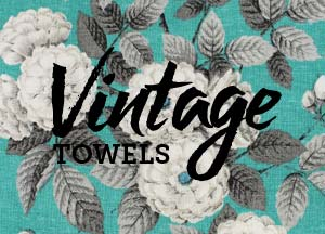 Vintage tea towel designs