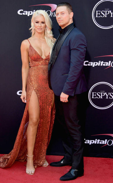 Maryse Mizanin wears the Abyss by Abby Jilah gown to the ESPYS!