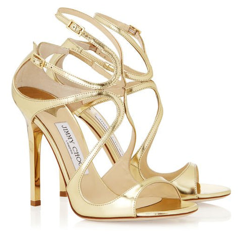 jimmy Choo Lance Gold Formal dress party sandals