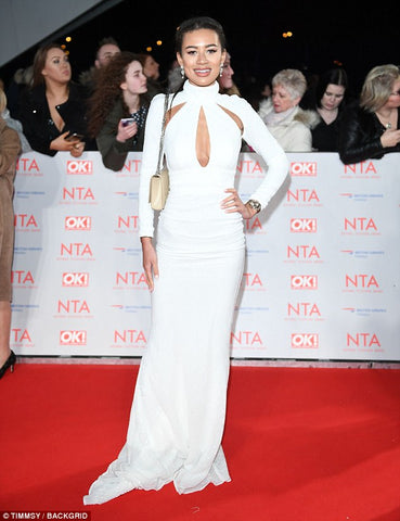 Montana Brown at the 2018 NTA's in Abyss by Abby Ruby White Gown