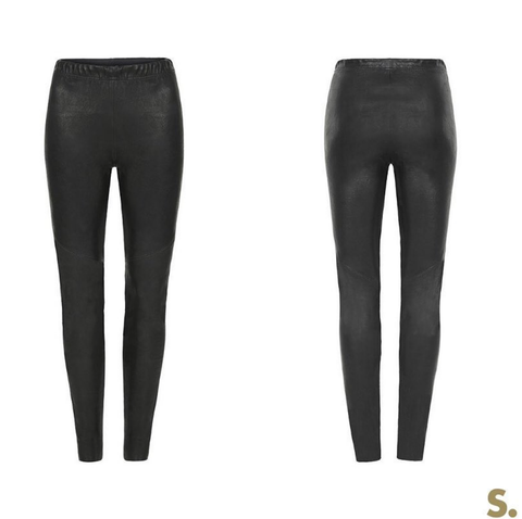 LEXI CLOTHING AU LAMBSKIN LEATHER LEGGINGS