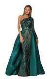 portia and scarlett 1705 emerald green one shouldered bodycon dress