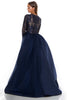 portia and scarlett cordelia 1705 navy blue long sleeved modest evening prom dress back
