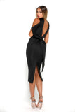 Portia & Scarlett Artisa Black Bow Midi dress