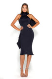 Portia & Scarlett Artisa navy Blue Bow Midi dress
