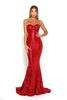 portia and scarlett diamond 6 red sequin jessica rabbit mermaid train dress