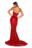 portia and scarlett diamond 6 red sequin jessica rabbit mermaid train dress back