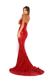 portia and scarlett diamond 6 red sequin jessica rabbit mermaid train dress side