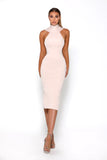 Portia & Scarlett Artisa Nude Bow Midi dress