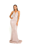 portia and scarlett 1924 sasu halterneck backless long gold evening dress at shaide boutique uk online