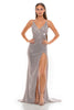 Portia and Scarlett Hugo 1927 Diamond gold wrap floor length maxi bodycon prom dress from shaide boutique uk