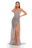 Portia and Scarlett Hugo 1927 Diamond gold wrap floor length maxi bodycon prom dress from shaide boutique uk front