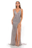 Portia and Scarlett Hugo 1927 Diamond gold wrap floor length maxi bodycon prom dress from shaide boutique uk front view