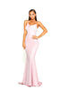 portia and scarlett dana diamond pink ps1936 long backless evening gown from shaide boutique uk front view prom dress