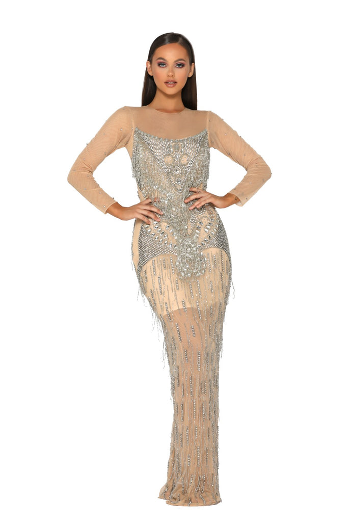 portia and scarlett 1947 gstaad swarovski crystal embellished prom dress at shaide boutique uk front