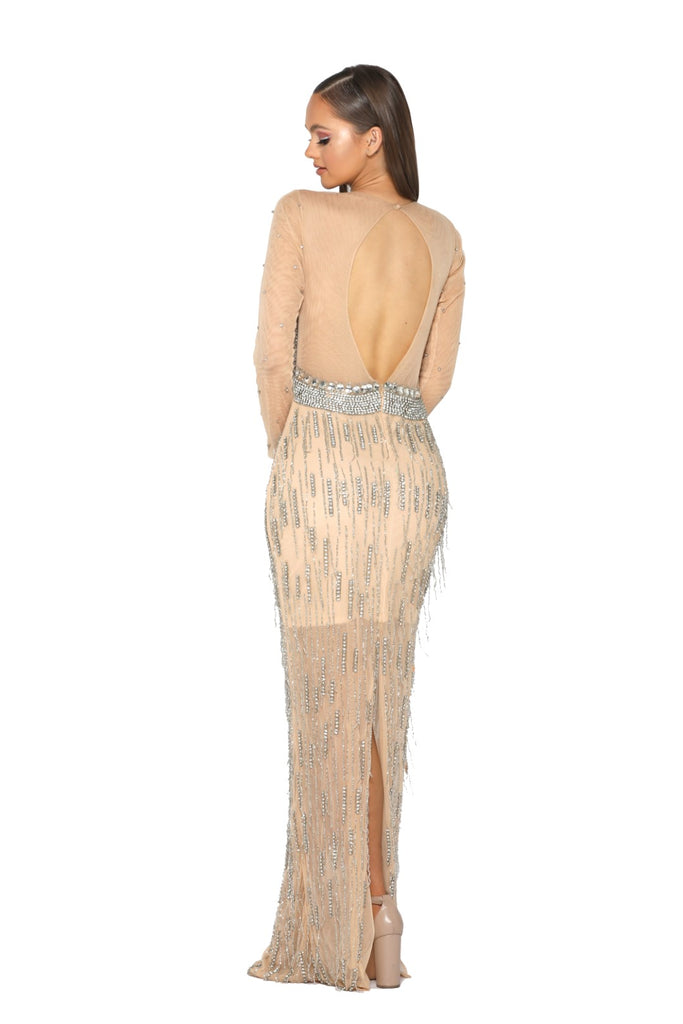 portia and scarlett 1947 gstaad swarovski crystal embellished prom dress at shaide boutique uk side view