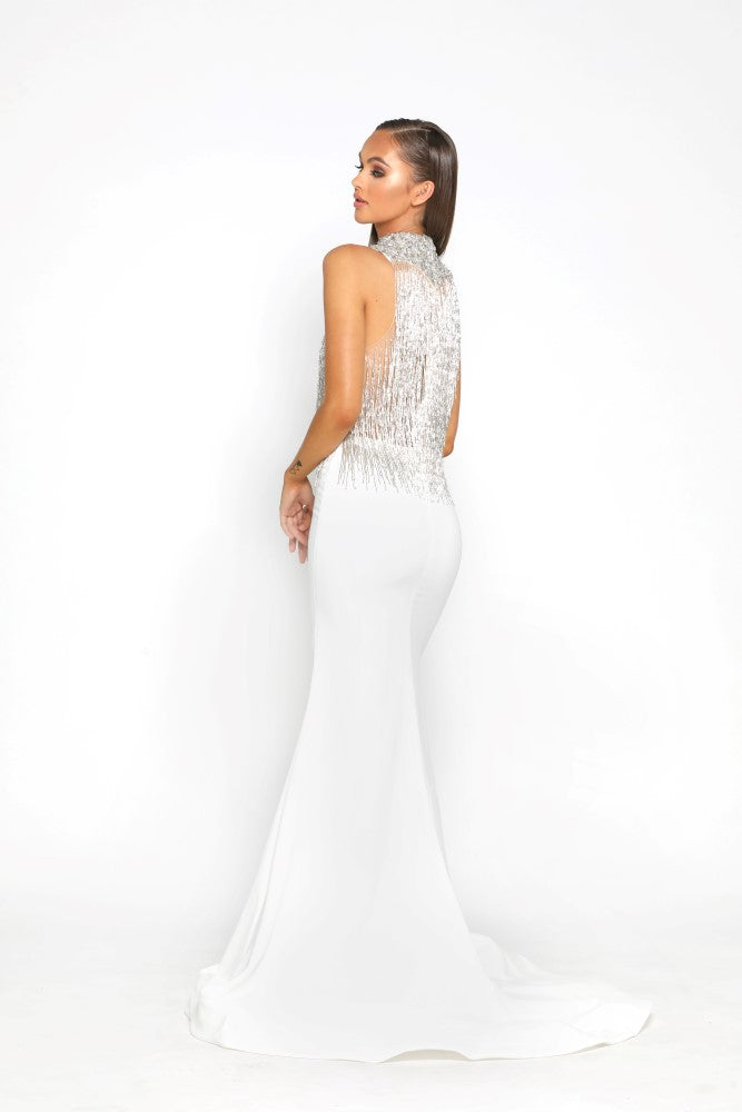 Portia & Scarlett PS1953 - CAP MARTIN beaded engagement party dress at shaide boutique uk back view