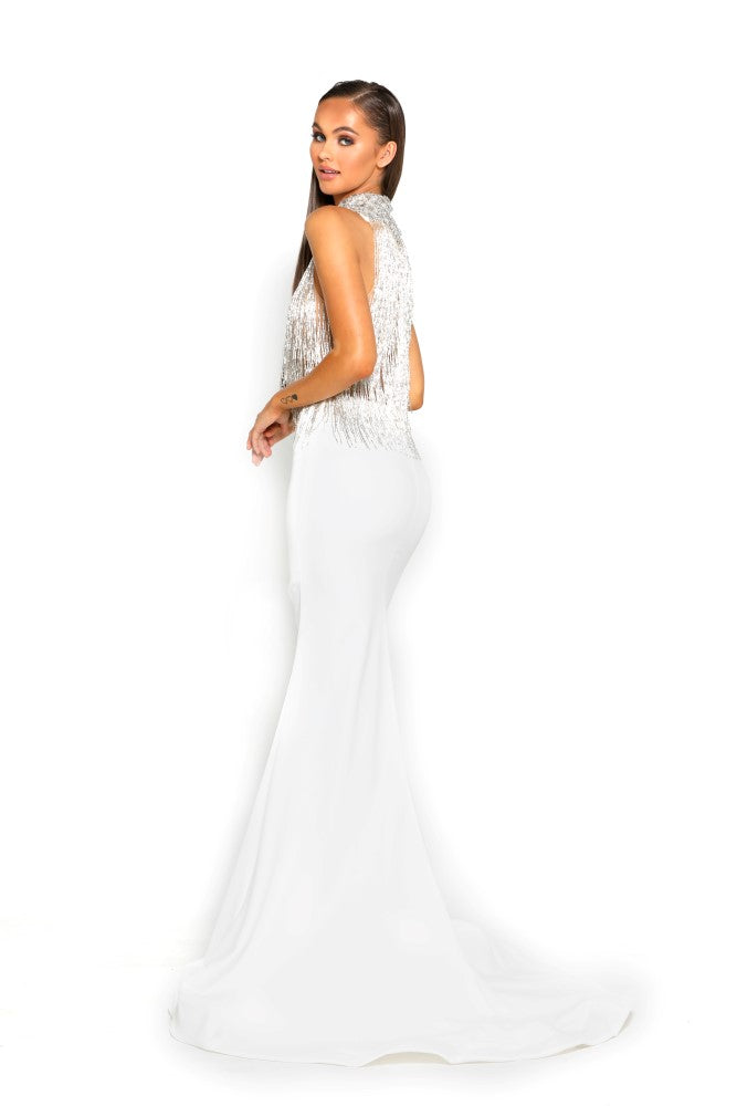Portia & Scarlett PS1953 - CAP MARTIN beaded engagement party dress at shaide boutique uk back