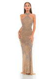 Portia & Scarlett Thalia PS1954 - SILVER NUDE couture red carpet black tie dress at shaide boutique uk next day delivery