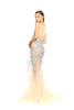 Portia & Scarlett Sammie - Crystal PS1960 Silver Nude evening dress prom shaide boutique uk back
