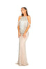 Portia & Scarlett PS1961 - PROVENCE silver beaded evening dress at SHAIDE Boutique UK front