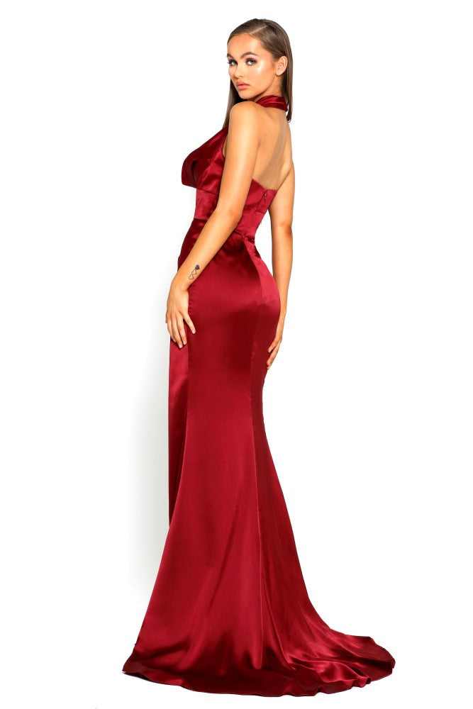 Portia & Scarlett PS1975 - CHAQUE FOIS -. RED prom dress at shaide boutique uk back